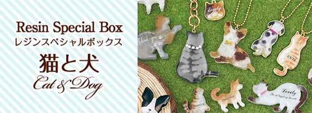 レジンボックス 猫と犬