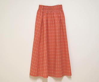 シャーリングロングスカート 画像