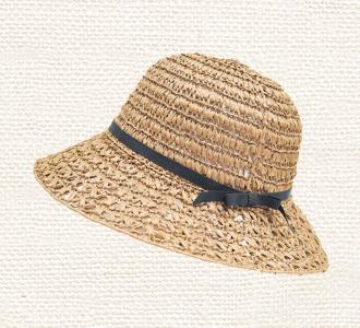 ネット編みつけ帽子 画像