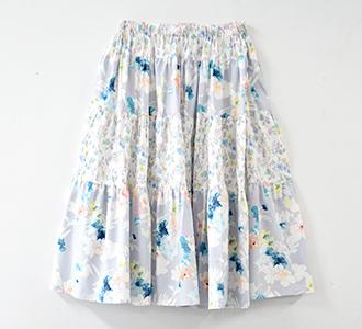 大人切り替えディアードスカート 画像