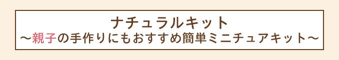 ナチュラルキット~親子の手作りにもおすすめ簡単ミニチュアキット〜