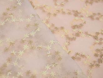 チュールレース 50cmカットクロス 花柄 生地画像