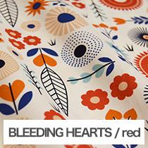 BLEEDING HEARTS/red